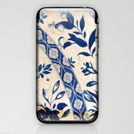 Blue Oriental Vintage Pa… iPhone & iPod Skin