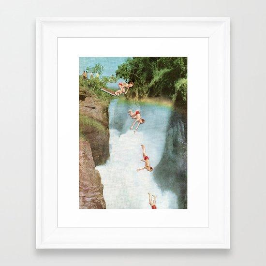 Diving Board Framed Art Print