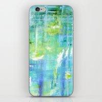Greens and Blues iPhone & iPod Skin