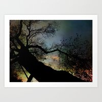 Night Fall by The Tree Art Print