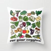 Eat Your Veggies! Throw Pillow