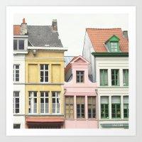 Gent Houses - Belgium Ph… Art Print