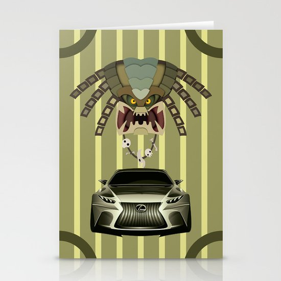 Lexus vs Predator Stationery Card
