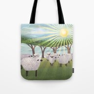 Sunshine Sheep Tote Bag