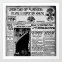 THE HISTORY OF SHIP DUVET COVER Art Print