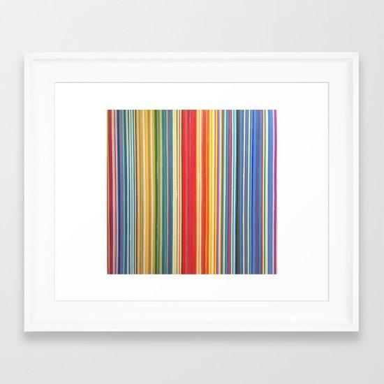 STRIPES 9 Framed Art Print