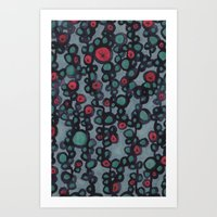 inky vines Art Print