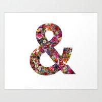 & ampersand print Art Print