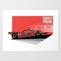Didier Pironi -  1981 Mo… Art Print