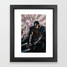 Dark and Light Framed Art Print
