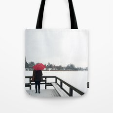 Copenhagen - Red Umbrella Tote Bag