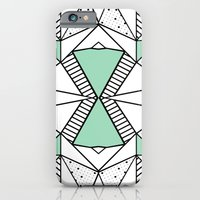 iPhone & iPod Case featuring Ab Lines and Spots Mint by Project M