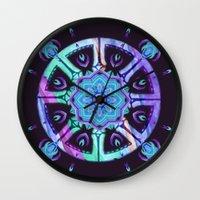 Purple Dharma Wall Clock