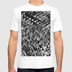 Moving Panes Black & White Mens Fitted Tee White SMALL