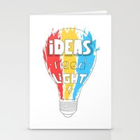 Ideas Need Light Stationery Cards