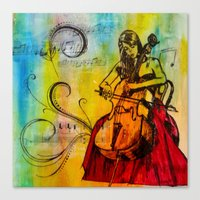 Canvas Print featuring Orchestrated by James Davis