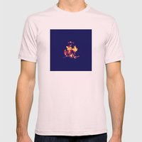 Blue Fire Mens Fitted Tee Light Pink SMALL