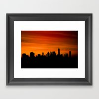 The Evolving Downtown Ma… Framed Art Print