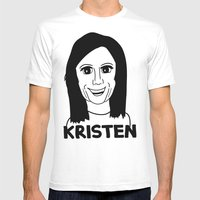 Kristen Wiig Mens Fitted Tee White SMALL