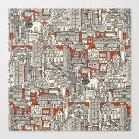 Hong Kong Toile De Jouy Canvas Print
