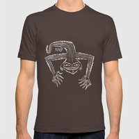 The monster that lives on your roof. (Black and white version) Mens Fitted Tee Brown SMALL