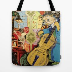 Distarcted Busker Tote Bag