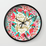 The Earth Laughs In Flow… Wall Clock