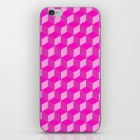 Geometric Series (Pink) iPhone & iPod Skin