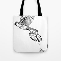 On My Own In Contrast Tote Bag