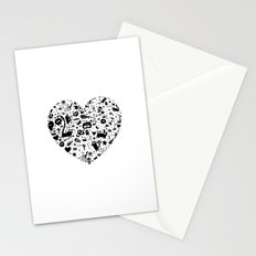 Halloween Heart Stationery Cards