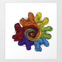 Colour Wheel Art Print