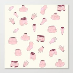 body parts Canvas Print