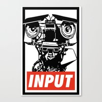 Obey Johnny 5 Canvas Print