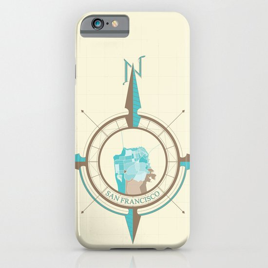 Compass Map Series: San Francisco iPhone & iPod Case