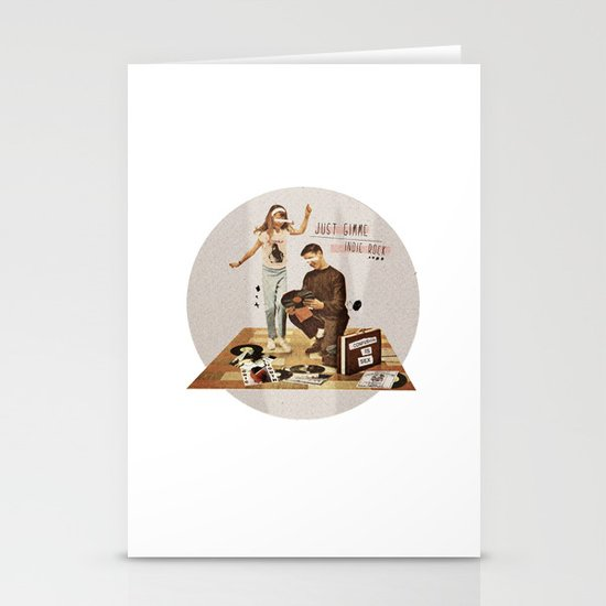 Just Gimme Indie Rock | Collage Stationery Card