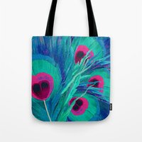 Peacocks Feathers Tote Bag