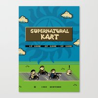 Supernatural Kart Canvas Print