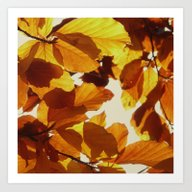 Art Print featuring Autumn Leaves by Color And Patterns