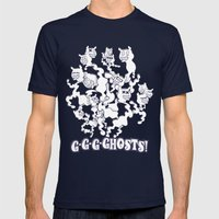 GGGHOSTS! Mens Fitted Tee Navy SMALL
