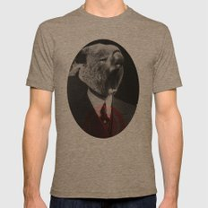 Koala Yawn Mens Fitted Tee Tri-Coffee SMALL