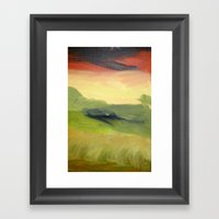 Fields Of Grain Framed Art Print