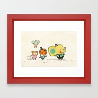Walking With You Framed Art Print