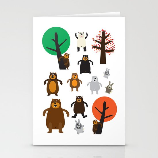 Bears, grizzly and other Stationery Card