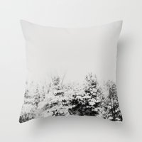 Winter Grey Throw Pillow