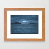salt flats Framed Art Print