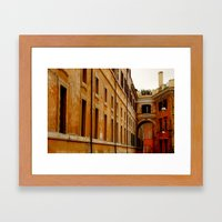 Yellow Rome Framed Art Print