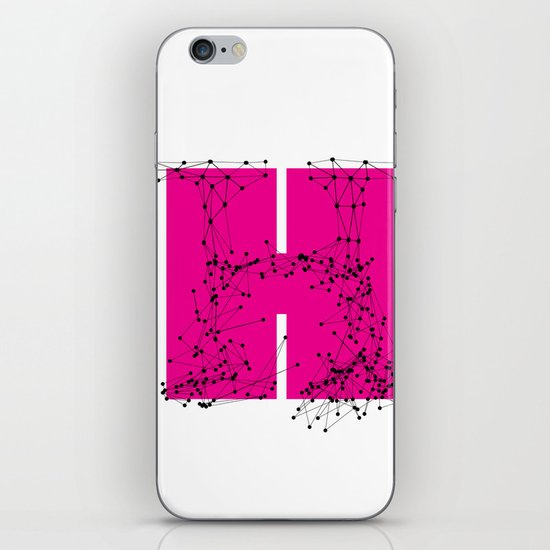 H (abstract geometrical type) iPhone & iPod Skin