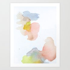 Watercolor Sixteen Art Print