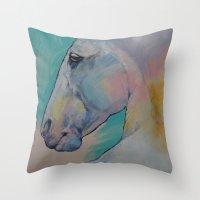 Lipizzan Stallion Throw Pillow