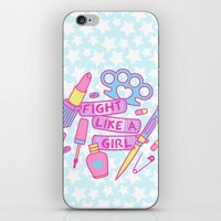 Girl Fighter iPhone & iPod Skin